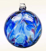 Blown Glass Feather Ball