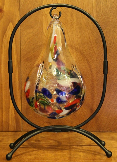 Blown Glass Ball Display Stands