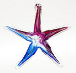 Blown Glass Starfish - Blue / Purple