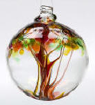 Blown Glass Tree of Life Ball