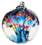 Blown Glass Tree of Life Ball - Caring