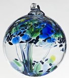 Blown Glass Tree of Life Ball - Kindness