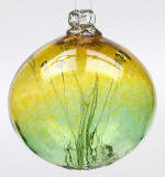 Gold/Green Olde English Witch Ball