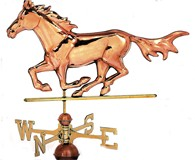 Solid Brass & Copper Horse Weather Vane