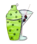 Martini Shaker Stained Glass Nightlight or Suncatcher