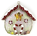 Stained Glass Gingerbread House Suncatcher or Nightlight