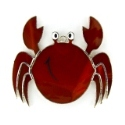 Red Crab Stained Glass Nightlight or Suncatcher