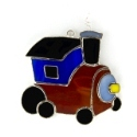 Toy Train Stained Glass Nightlight or Suncatcher