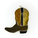 Cowboy  Boot Stained Glass Nightlight or Suncatcher